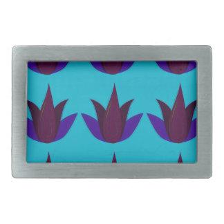 Boucle De Ceinture Rectangulaire Lotus bleus