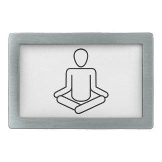 Boucle De Ceinture Rectangulaire Méditation-logo
