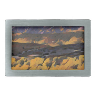 Boucle De Ceinture Rectangulaire Montagnes colorées
