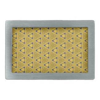 Boucle De Ceinture Rectangulaire Motif triangulaire jaune