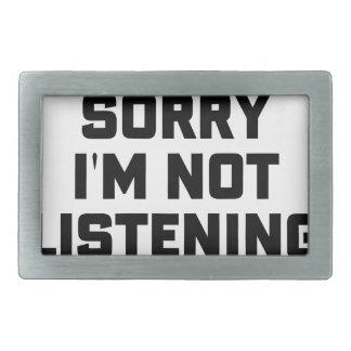 Boucle De Ceinture Rectangulaire N'écoutant pas