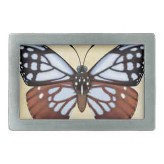 Boucle De Ceinture Rectangulaire Papillon de tigre de châtaigne
