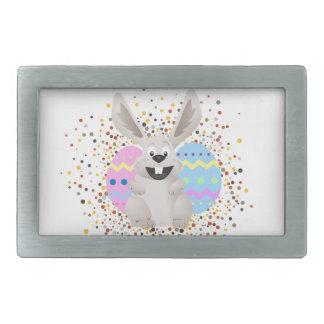 Boucle De Ceinture Rectangulaire Pâques, colorée, lapin, drôle