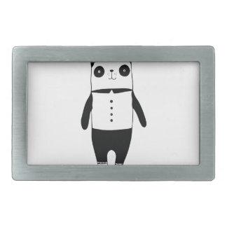 Boucle De Ceinture Rectangulaire Petit panda noir et blanc