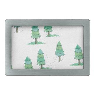 Boucle De Ceinture Rectangulaire pines winter plus forest