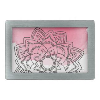 Boucle De Ceinture Rectangulaire Pink l'envoyez