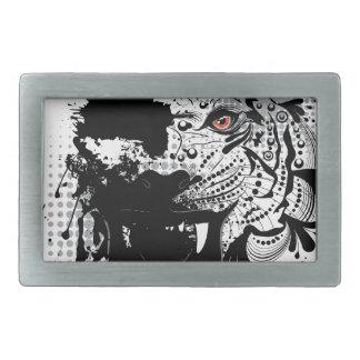 Boucle De Ceinture Rectangulaire Portrait ornemental de tigre