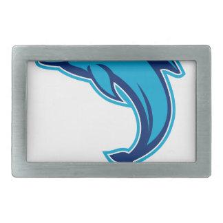 Boucle De Ceinture Rectangulaire Sauter bleu de dauphin rétro