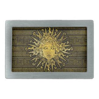 Boucle De Ceinture Rectangulaire Symbole d'Apollo Sun sur le motif principal grec