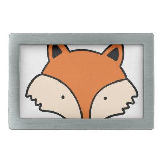 Boucle De Ceinture Rectangulaire Tête simple de renard