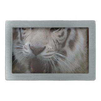 Boucle De Ceinture Rectangulaire Tigre blanc