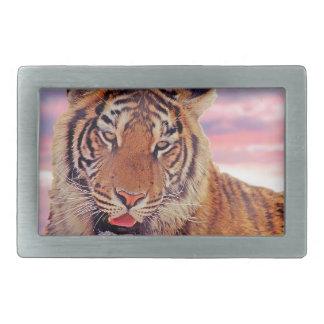 Boucle De Ceinture Rectangulaire Tigre somnolent -