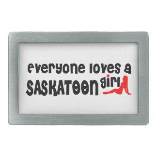 Boucle De Ceinture Rectangulaire Tout le monde aime une fille de Saskatoon