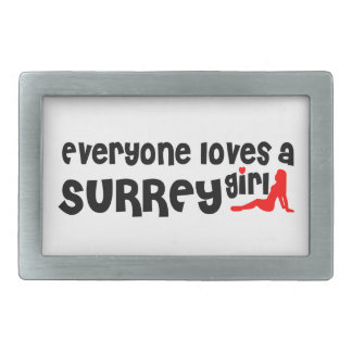 Boucle De Ceinture Rectangulaire Tout le monde aime une fille de Surrey