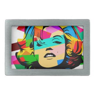 Boucle De Ceinture Rectangulaire Visage coloré