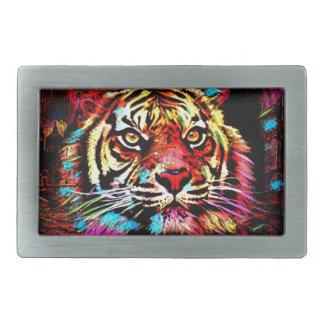 Boucle De Ceinture Rectangulaire Visage de tigre