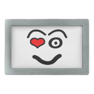 Boucle De Ceinture Rectangulaire Visage drôle d'amour