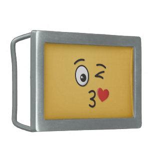 Boucle De Ceinture Rectangulaire Visage jetant un baiser