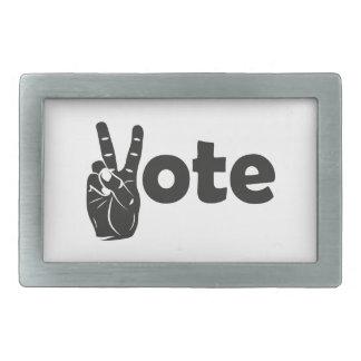 Boucle De Ceinture Rectangulaire Vote d'illustration pour la paix