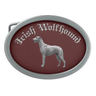 Boucle de ceinture ronde de chien-loup irlandais