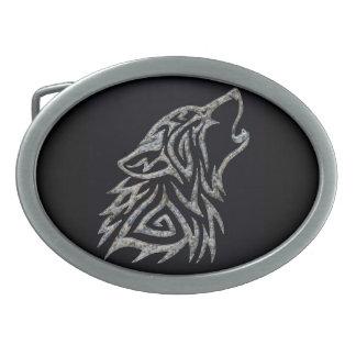 Boucle de ceinture tribale en pierre de loup