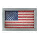 Boucle de ceinture vintage de drapeau américain