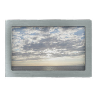 Boucle de mer et de ciel et de ceinture de nuages boucles de ceinture rectangulaires