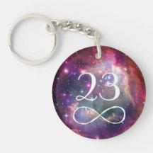 Boucle d'infini et monogramme de hippie de porte-clé