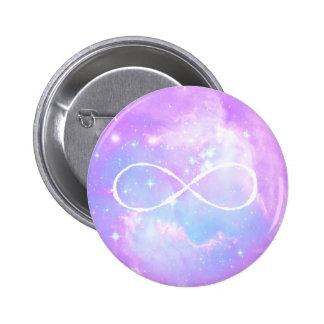 Boucle en pastel d'infini de galaxie badge rond 5 cm