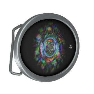 Boucles De Ceinture Ovales Croquis psychédélique coloré d'un oeil
