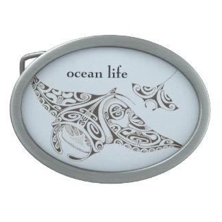 Boucles De Ceinture Ovales le jumeau de la vie d'océan rayonne des