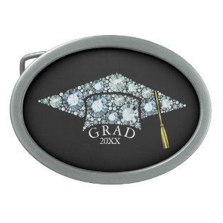 Boucles De Ceinture Ovales Modèle de scintillement des textes de diamants de