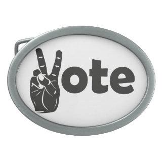 Boucles De Ceinture Ovales Vote d'illustration pour la paix