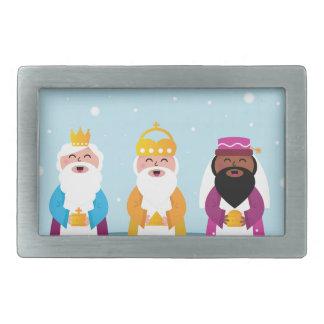 Boucles De Ceinture Rectangulaires 3 rois peints à la main