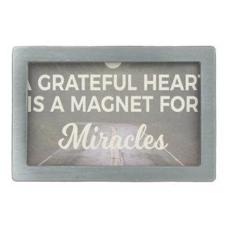 Boucles De Ceinture Rectangulaires Aimant reconnaissant de miracle de coeur