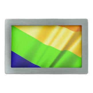 Boucles De Ceinture Rectangulaires Amour gai de lesbienne d'arc-en-ciel de fierté de