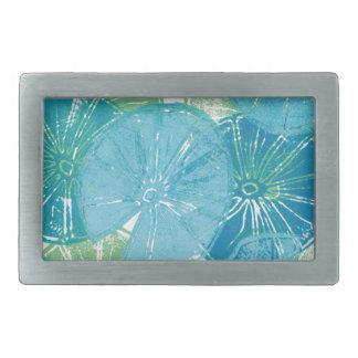 Boucles De Ceinture Rectangulaires Bleus de protection de lis