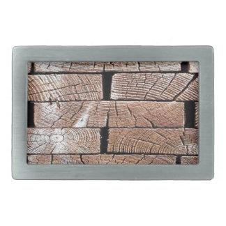 Boucles De Ceinture Rectangulaires bois, rétro, arbres