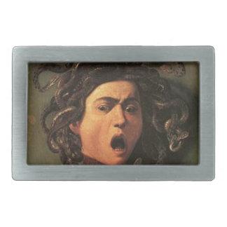 Boucles De Ceinture Rectangulaires Caravaggio - méduse - illustration italienne