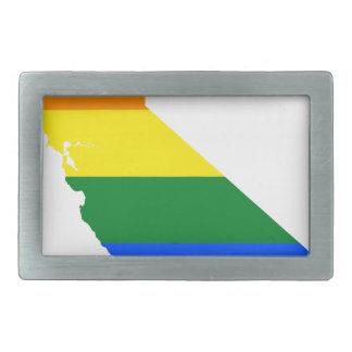 Boucles De Ceinture Rectangulaires Carte de drapeau de la Californie LGBT