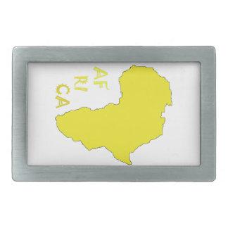 Boucles De Ceinture Rectangulaires Carte jaune géniale de l'Afrique