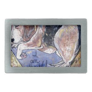 Boucles De Ceinture Rectangulaires Chien d'ange