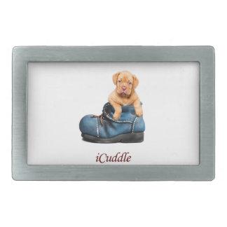 Boucles De Ceinture Rectangulaires Chiot français de mastiff d'iCuddle mignon