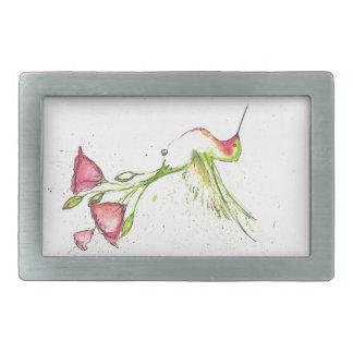 Boucles De Ceinture Rectangulaires colibri de queue de fleur