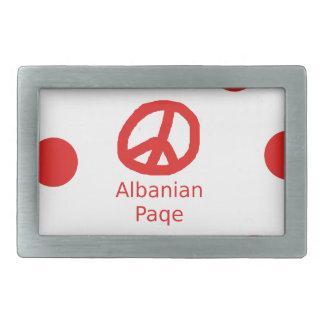 Boucles De Ceinture Rectangulaires Conception albanaise de symbole de paix