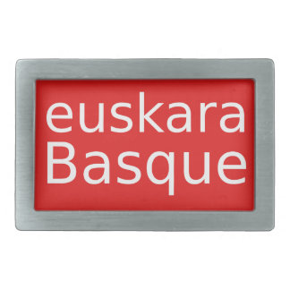 Boucles De Ceinture Rectangulaires Conception de langue Basque