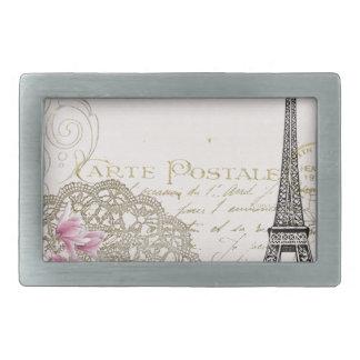 Boucles De Ceinture Rectangulaires Copie vintage de Tour Eiffel de Paris