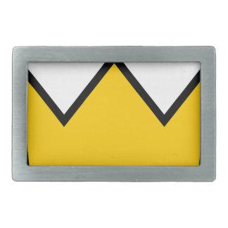 Boucles De Ceinture Rectangulaires Couronne jaune
