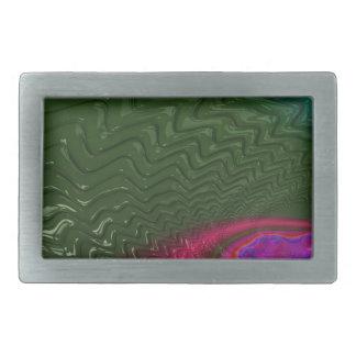 Boucles De Ceinture Rectangulaires Crépuscule de fractale de vent