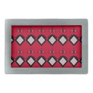 Boucles De Ceinture Rectangulaires Cru rouge de conception d'éléments d'ethno